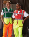 Two Tone Hi-viz Executive Vest with Pockets and ID Badge (Sizes S - 3XL)